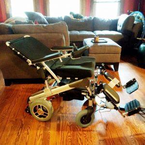 Photograph of Rebecca's wheelchair
