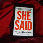 "Cover of the book ""She Said"""