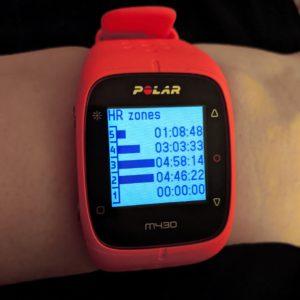 Photo of a Polar M430 watch