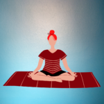 Illustration of a woman in seated meditation